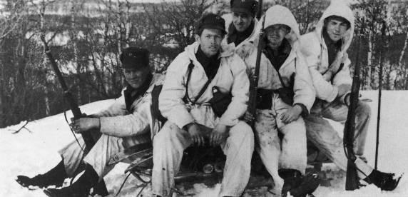 Norske soldater ved Narvik 1940